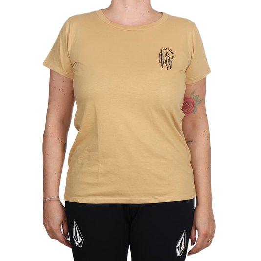 Camiseta Volcom Silk Lock It Up Caqui