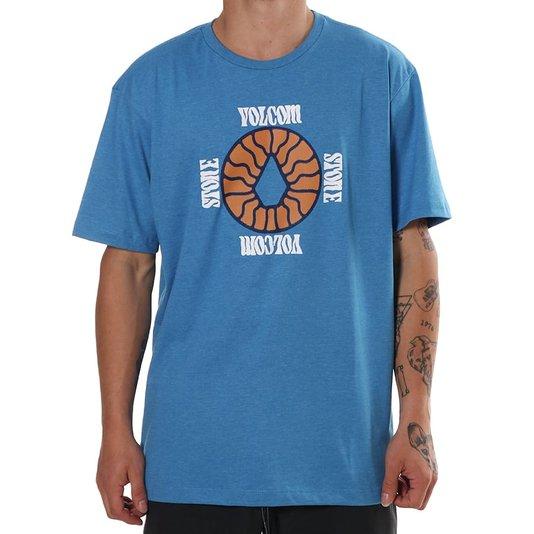 Camiseta Volcom Silk Surprise Mescla Azul