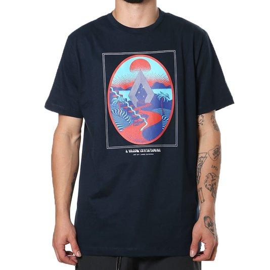 Camiseta Volcom Silk Zuverza Azul Marinho
