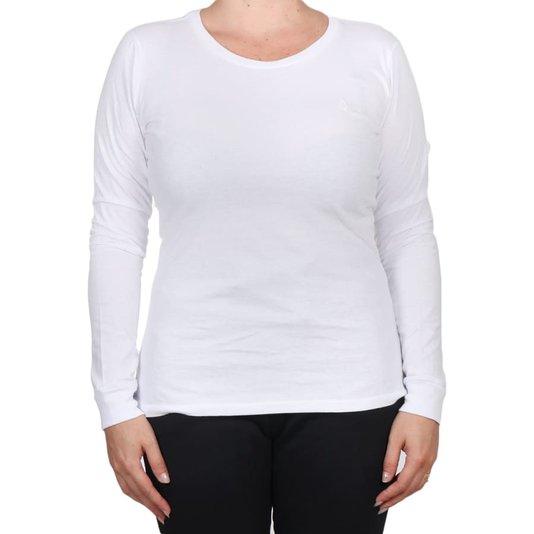 Camiseta Volcom Solid Stone M/L Feminina Branco