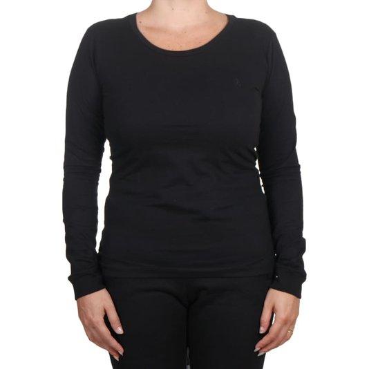 Camiseta Volcom Solid Stone M/L Feminina Preto