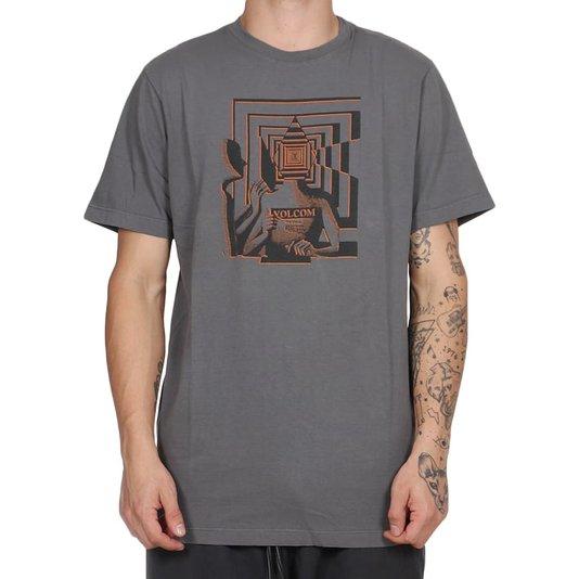 Camiseta Volcom Stone Reveal Cinza