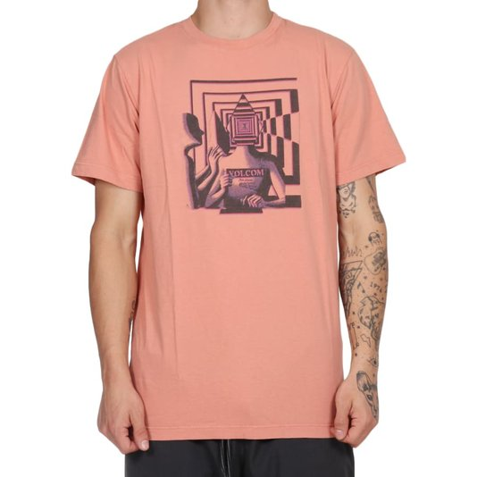 Camiseta Volcom Stone Reveal Salmão