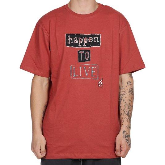 Camiseta Volcom Strangemind Vermelho