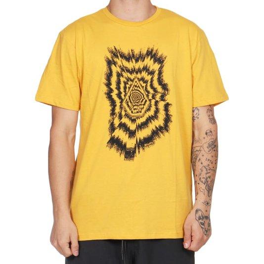 Camiseta Volcom The Projectionist Amarelo