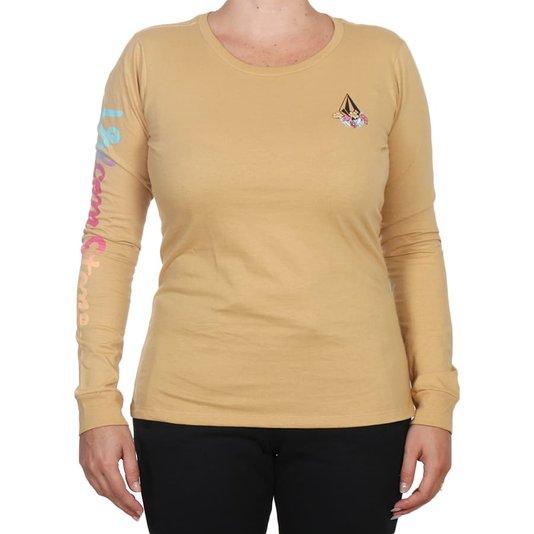 Camiseta Volcom Thermality M/L Feminina Caqui
