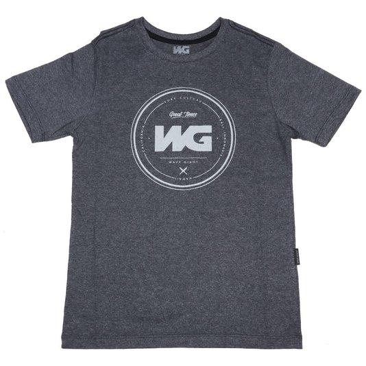 Camiseta Wave Giant Infanto - Juvenil Debossing Mescla Escuro
