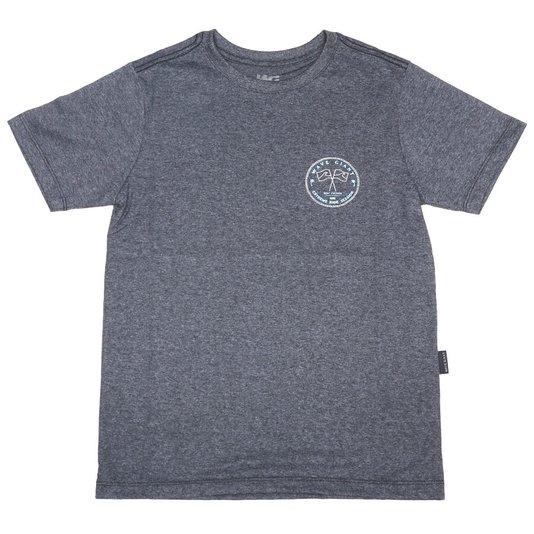 Camiseta Wave Giant Infanto - Juvenil Flags Cinza Mescla Escuro