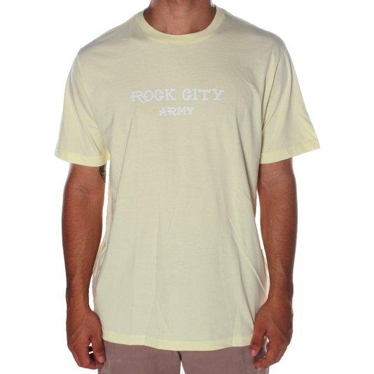 Camiseta Rock City Army Box Amarelo