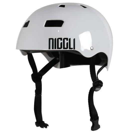 Capacete Niggli Pads Iron Pro Light Brilho Branco