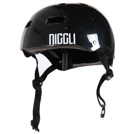 Capacete Niggli Pads Iron Pro Light Brilho Preto
