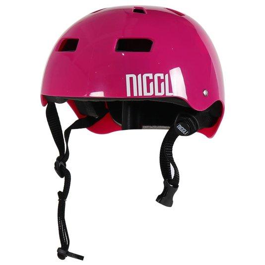 Capacete Niggli Pads Iron Pro Light Brilho Rosa