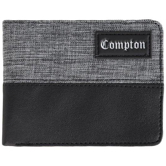 Carteira Starter Compton Authentic Preto/Cinza Mescla
