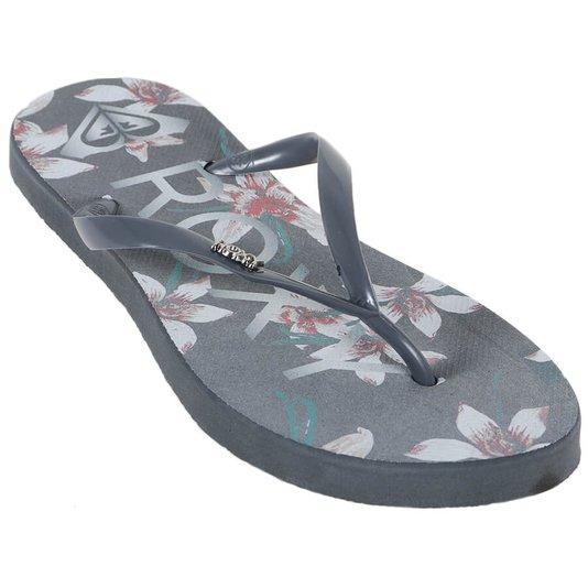 Chinelo Roxy Sandals Mai Tai Cinza/Floral