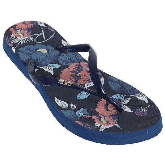 Chinelo Roxy Sandals Portofino Ii Azul Marinho/Floral