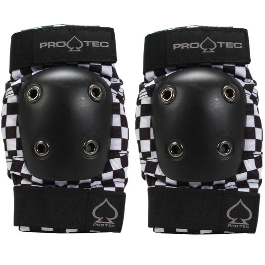 Cotoveleira Pro-Tec Checkboard Preto/Branco