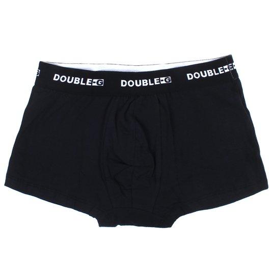 Cueca Boxer Double-G Preto