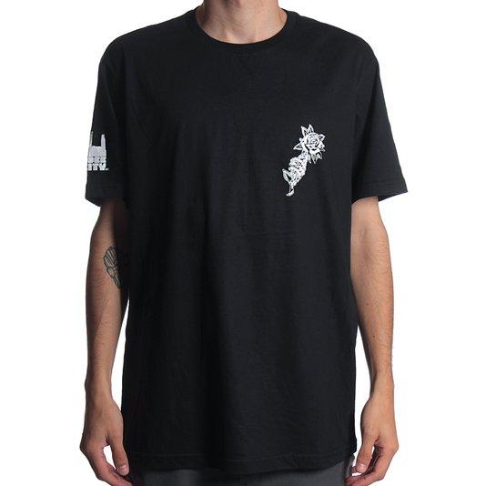 Camiseta Rock City Marchioro Rosa Nac. Preto