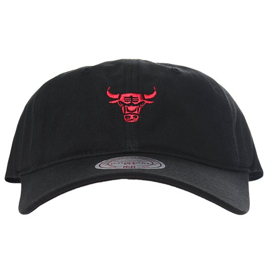 Boné Mitchell & Ness Chicago Bulls Aba Curva Red Preto