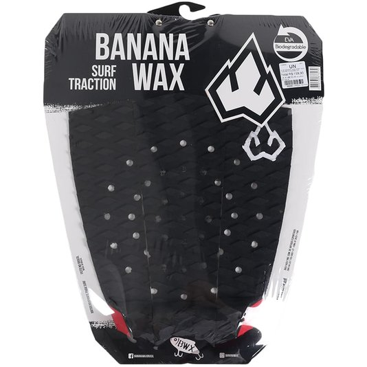 Deck Banana Wax Surf Traction Preto/Vermelho