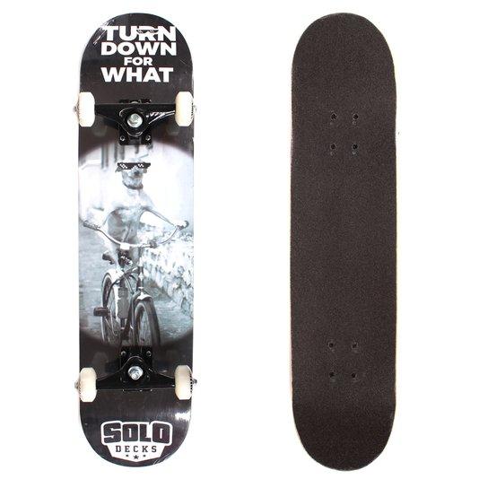 Skate Solo Montado Profissional Turndowforwhat Preto