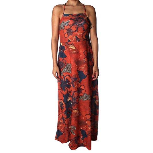 Vestido Redley Flower Shadow Laranja