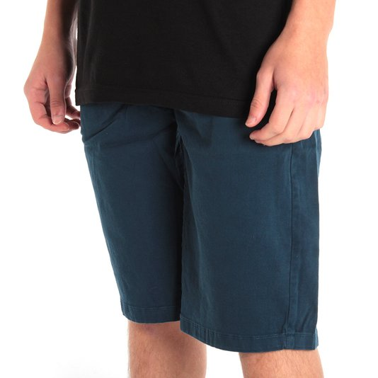 Bermuda Volcom Jeans 2X4 Vii Azul Marinho