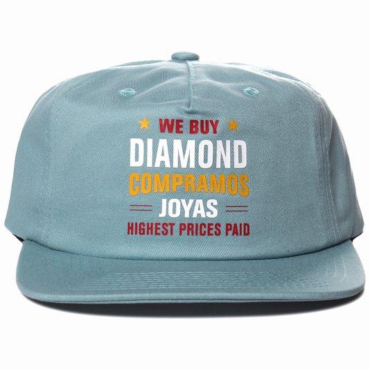 Boné Diamond Jewelers Row Azul Claro