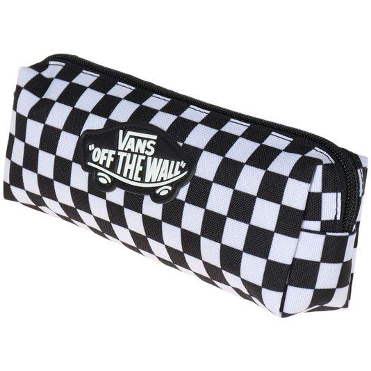 Estojo Vans Penal Otw Pencil Pouch Checkerboard Preto/Branco