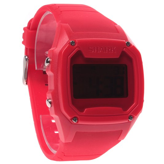 Relógio Killer Shark Digital Silicone LCD Vermelho