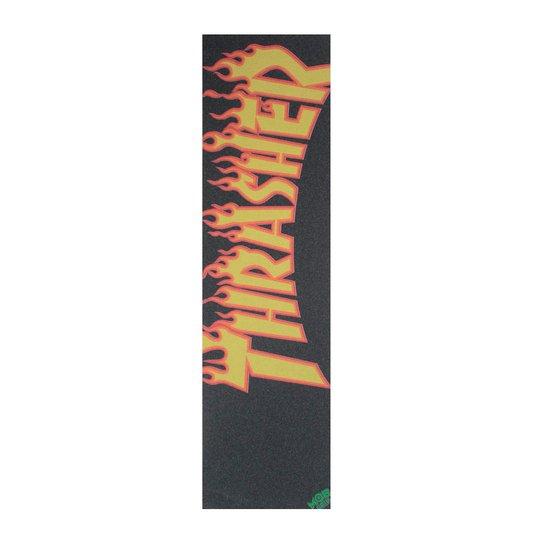 Lixa Mob Grip Thrasher Flame Logo Amarelo/Laranja
