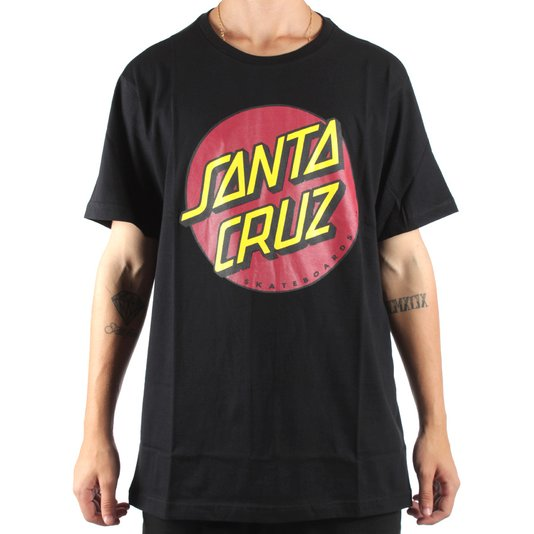 5900456fb7518 Camiseta Santa Cruz Classic Dot Preto - Rock City