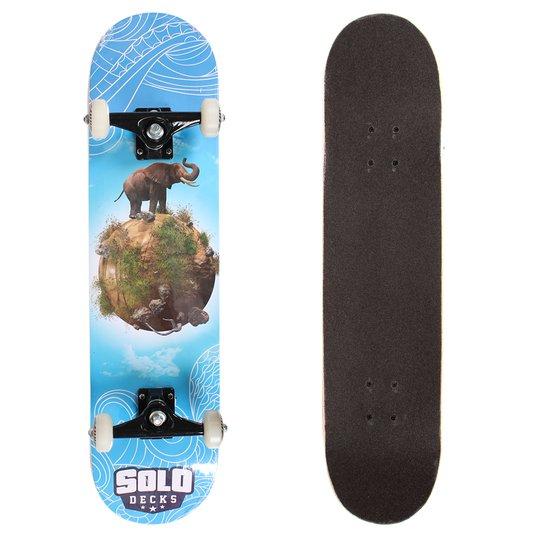 Skate Solo Montado Profissional Elephant Azul