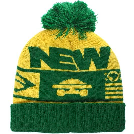 Gorro New Pom Pom Brasil  Verde/Amarelo