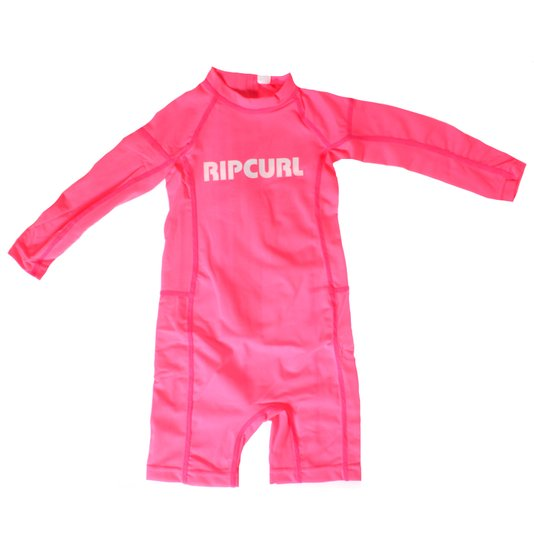 Lycra Rip Curl Maiô Gromm Boys Infantil Rosa Neon