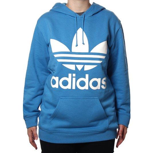 Moletom Adidas TRF Hoodie Feminino Azul