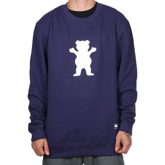 Moletom Grizzly Og Bear Crewneck Roxo
