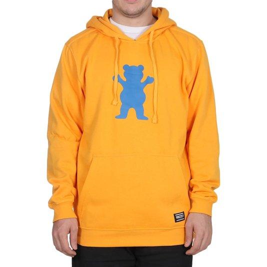 Moletom Grizzly Og Bear Pullover Hoodie Canguru Amarelo