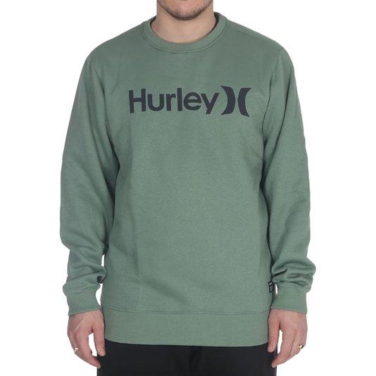 Moletom Hurley Careca O&O Solid Verde