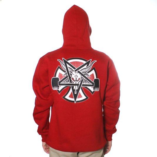 Moletom Independent x Thrasher Pentagram Cross Vermelho