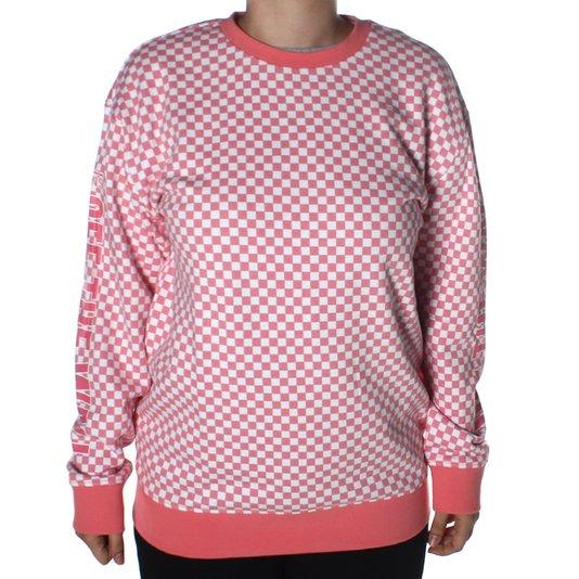 Moletom Vans Central Checkerboard Rosa/Branco