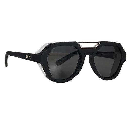Óculos Evoke Avalanche A10 Total Preto Fosco/Prata/Branco