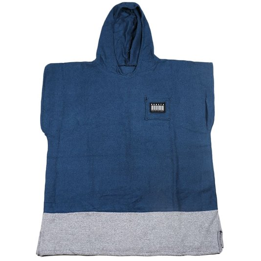 Poncho Monxta Infantil Azul/Cinza
