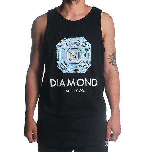 Regata Diamond Asscher Cut Tank Preto