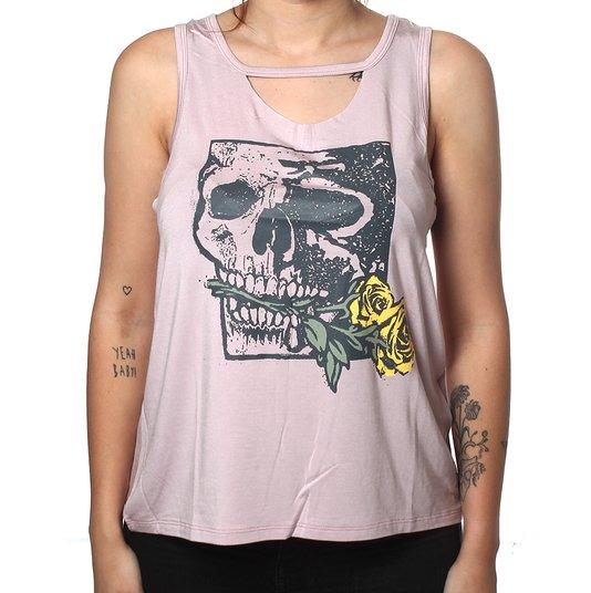 Regata Hurley Skull Rose Lilás