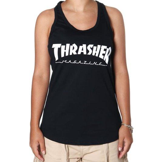Regata Thrasher Magazine Logo Feminina Preto
