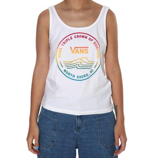Regata Vans Vtcs Logo Feminina Cropped Off White