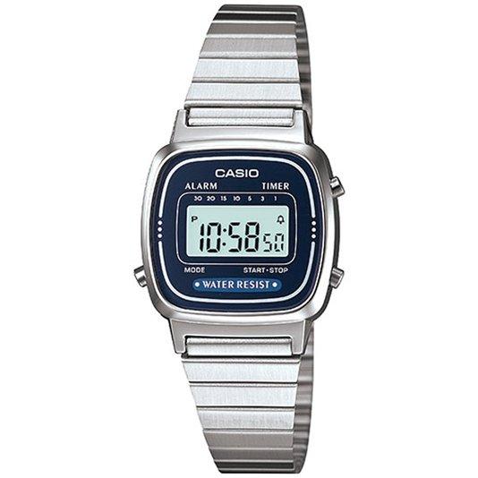 Relógio Casio Vintage LA670WA-2DF Prata