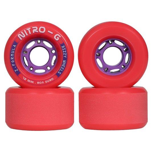 Roda Dizzy Para FreeRife Nitro-G 80A Vermelho