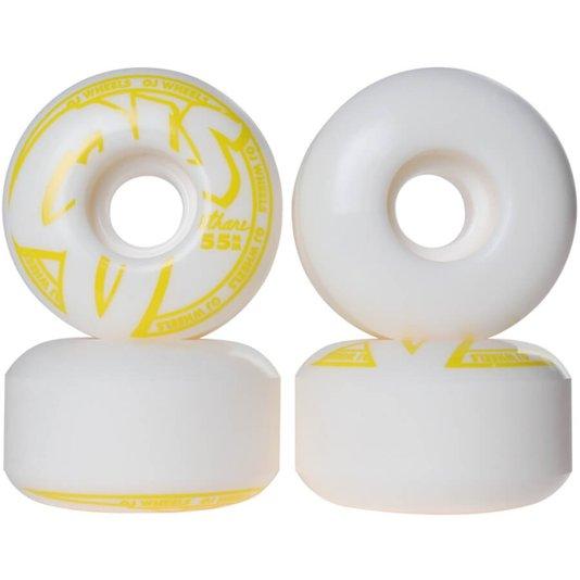 Roda OJ Concentrate Hard Lines 101A Branco/Amarelo